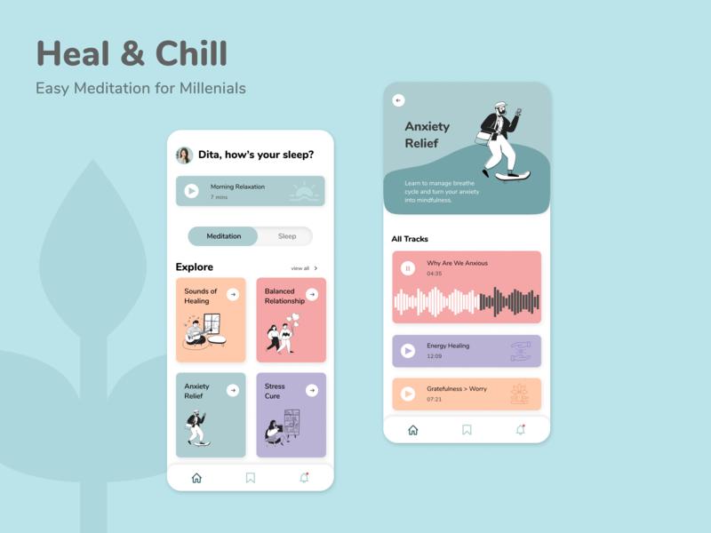 Meditation App ios app design meditation app