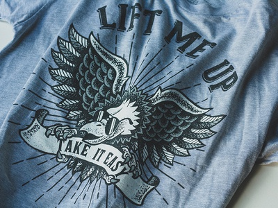 Take It Easy Tee apparel eagle traditional tattoo t-shirt design illustration take it easy