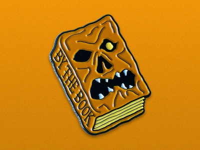 By The Book necronomicon illustration horror enamel pin evil dead