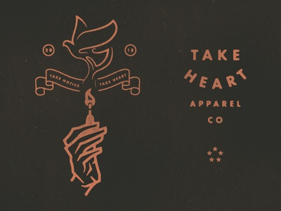 FireDove take heart springfield mo apparel design typography illustration hand match dove