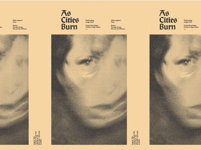 06022015 band metal grid design show kansas poster flier burn cities as