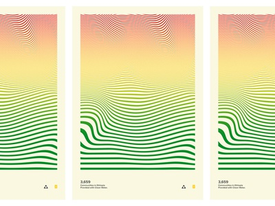 Glimmer Poster print flag ethiopia illusion optical design water clean partner glimmer