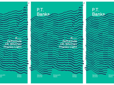 11102015 banks p.t. mohawk texas austin optical glitch lines design gig show poster