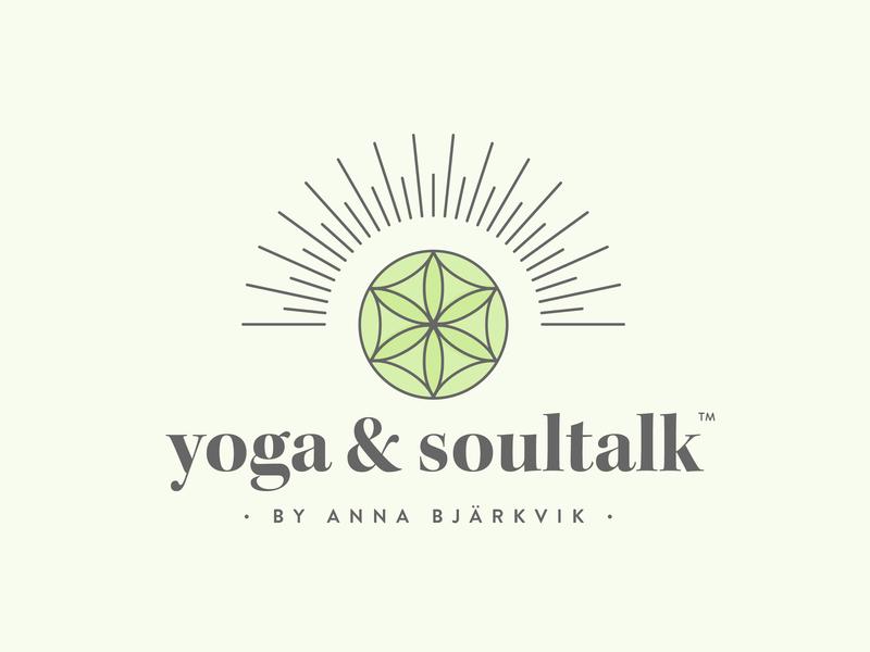 Yoga & Soultalk by Anna Bjärkvik | Logo yoga logo yoga illustrator design logo