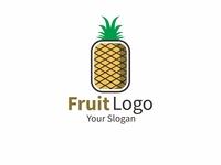 pineapple logo fruit logo concept