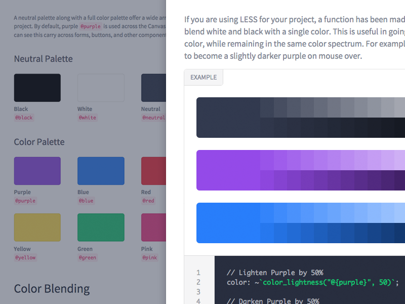 Styleguide colors