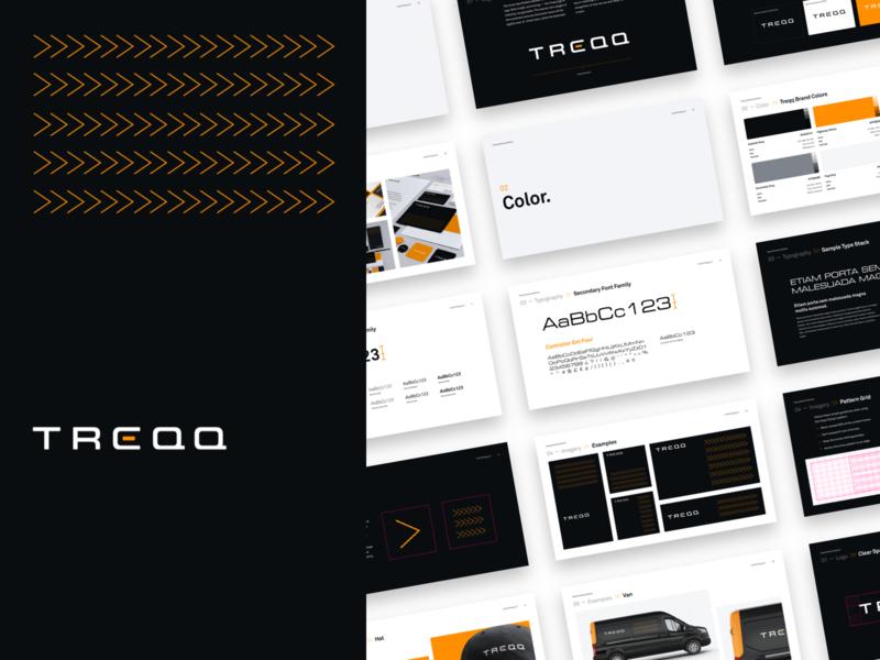 Treqq Brand Book branding brand brand guidelines identity branding guidelines brand book identity logo styleguide
