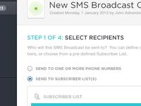 SMS Broadcast Setup