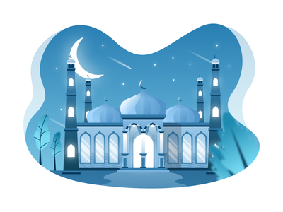 Mosque Illustration islamic building ilustrasi masjid arabic illustration islamic illustration eid al fitr mosque illustration building illustration flat illustration prayer masjid landmark dome culture arabic islamic ramadhan islam mosque religion muslim