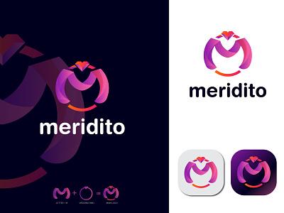Meridito logo for marriage media logo illustration ui design logodesign logo design creative  design graphic  design branding graphic design motion graphics brand and identity logo brand matrimony logo marrige logo