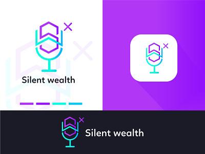 Silent wealth modern minimalist logo illustration design logo design logodesign graphic  design creative  design brand and identity brand branding graphic design motion graphics logo