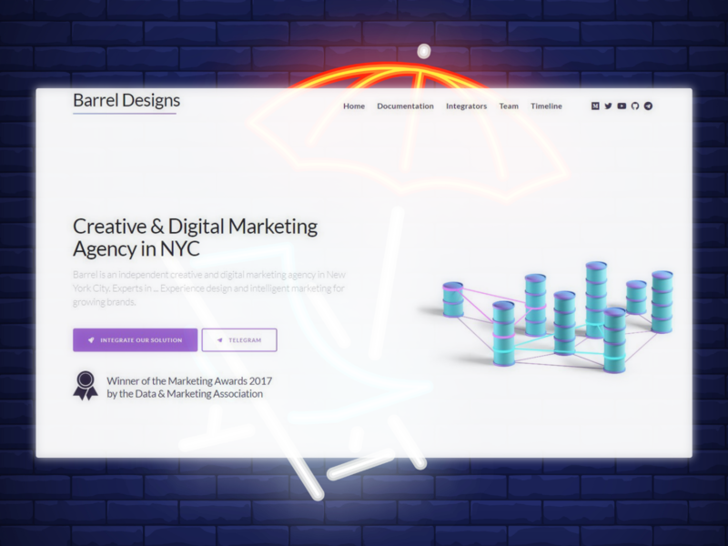 Design agency concept ui flat design web agency