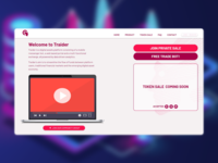 Landing page for a trading