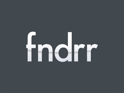Fndrr Logo logo fndrr music itunes song album search website