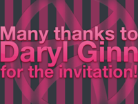 Thx to Daryl Ginn