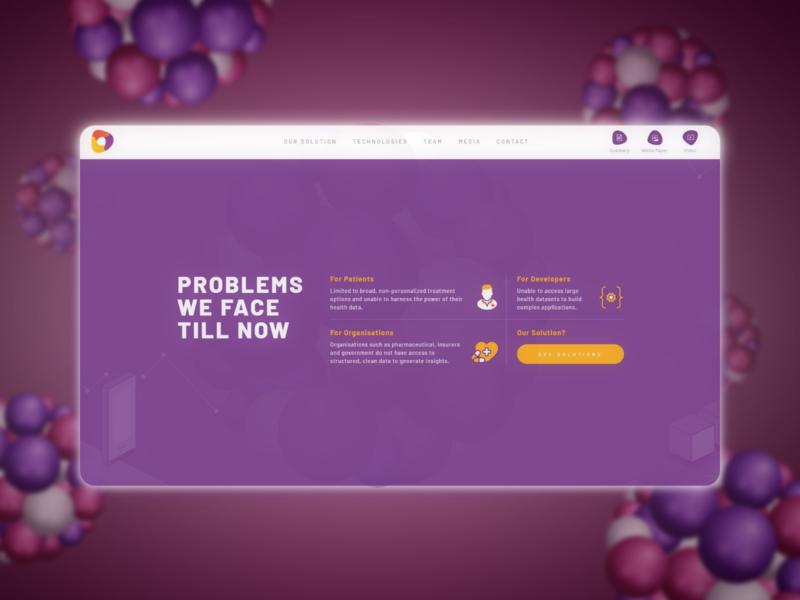 Health landing page website flat design web health