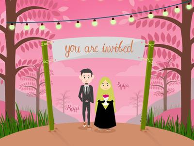 ISLAMIC  INVITATION WEDDING |  FLAT DESAIN