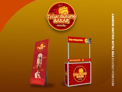 Telur Gulung Mamsky Logo, X-Banner, Booth Design
