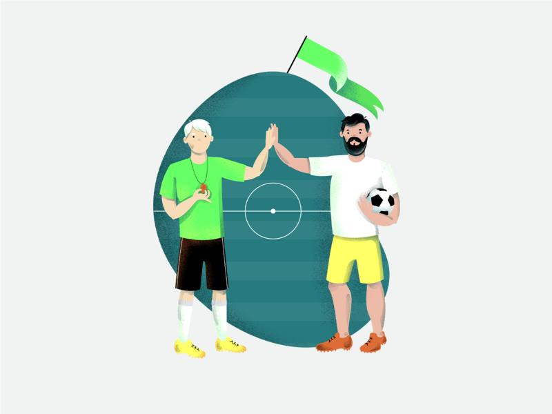 Sport illustrations vol. 2 soccer cycling yoga drawing texture illustration sport syzygywarsaw syzygy