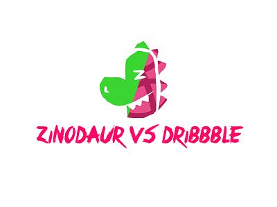 zinodaur VS dribbble logo