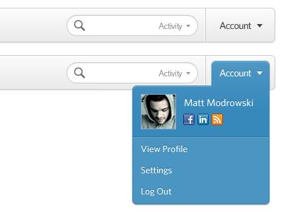 Account Dropdown dropdown profile log out menu