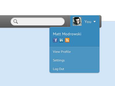 Account Dropdown in CSS dropdown css3 menu