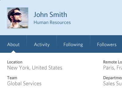 Profile Modal profile user menu