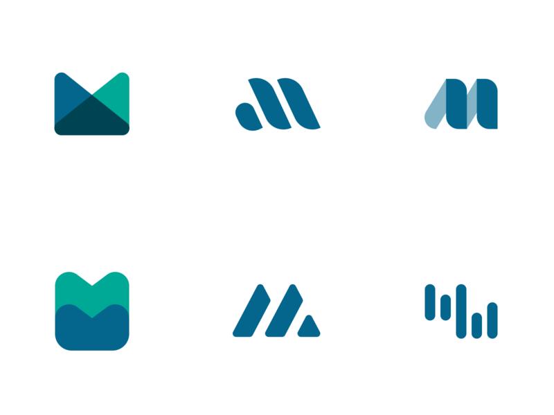 M marks exploration branding m identity logo
