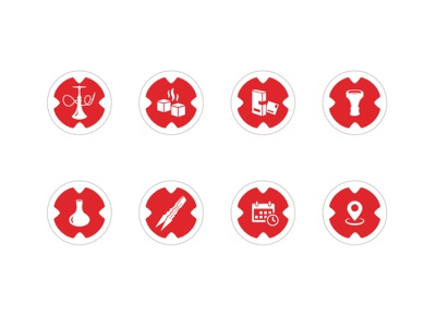 Hookah instagram highlights icons design instagram stories highlights instagram silhouette isometric design illustration icons hookah icon design icon icon set