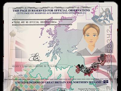 British Passport sample образец изображение паспорт sample document british vector illustrator passport