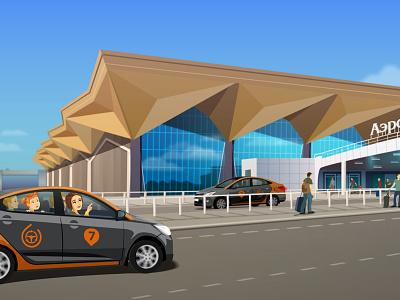 City parking sketch5 car city character vector pulkovo airport