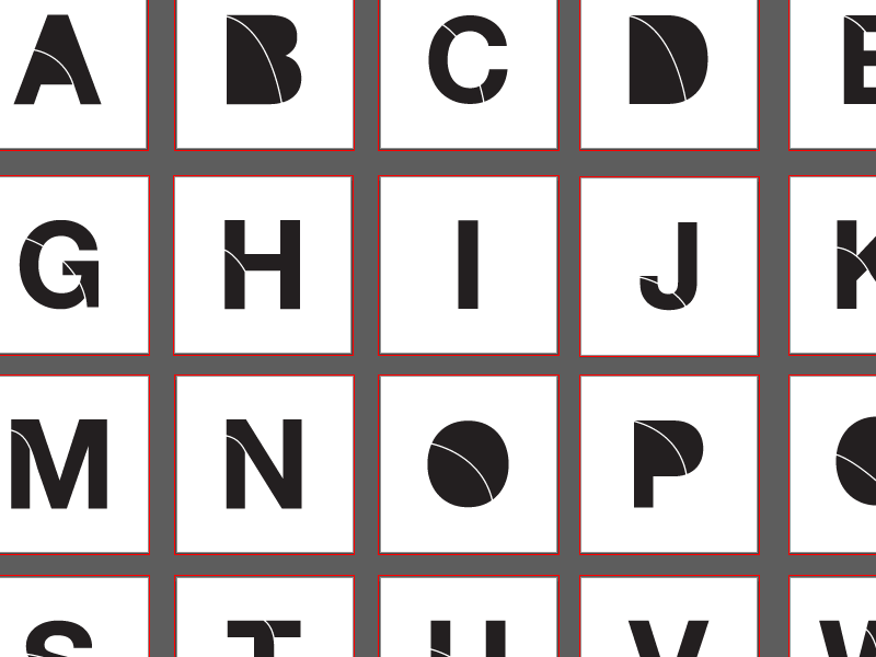 Stencil Alphabet stencil graffiti type design font graphic design