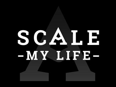 Scale My Life Logo wordmark arrow mountain passion business entrepreneur outdoors lifestyle