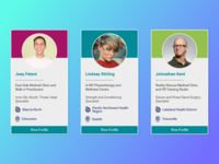 Medical Professional Profile Cards