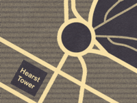 Hearst Tower Map - Detail