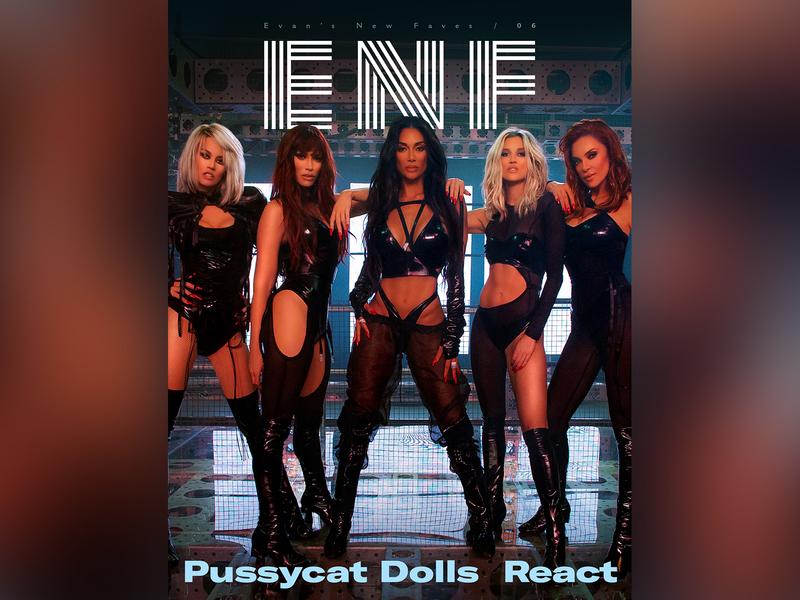 ENF Issue 06 react pussycat dolls zine typography type photography music magazine logotype logo design logo lettering identity editorial cover design clean branding brand identity brand