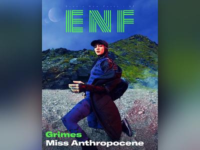 ENF Issue 07 miss anthropocene zine typography type photography music magazine logotype logo design logo lettering identity editorial cover design clean branding brand identity brand