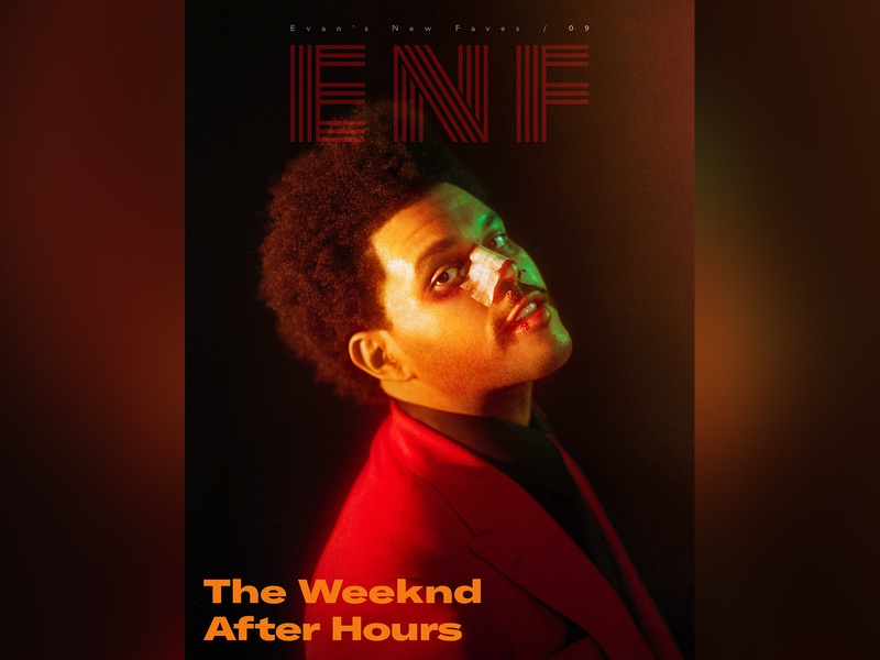 ENF Issue 09 after hours the weeknd zine typography type photography music magazine logotype logo design logo lettering identity editorial cover design clean branding brand identity brand