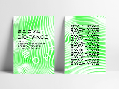 Social Distancing Posters safety poster design coronavirus white black green texture grit brutalist design brutalism brutalist graphic design typography type poster lettering editorial design
