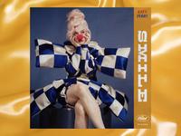 Katy Perry - Smile - Album Art Concept 2 blue yellow vintage retro circus clown concept lockup lettering typography type music photography album album art cover cover design