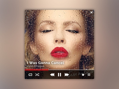 Music Player Widget - Kylie Minogue