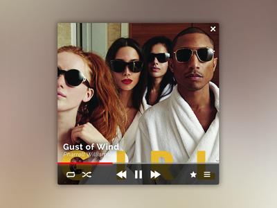 Music Player Widget - Pharrell Williams