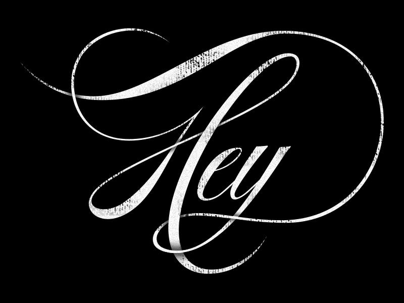 Hey … New Blog! script lettering typographic type type treatment texture hey black shadow blog tumblr design