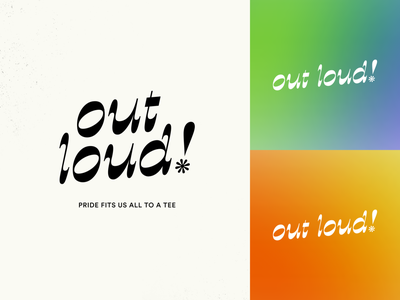 Out Loud! Logo playful display gradient