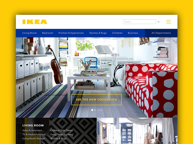 Ikea Website Concept
