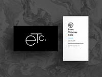 Evan Thomas Cole Business Card 2017