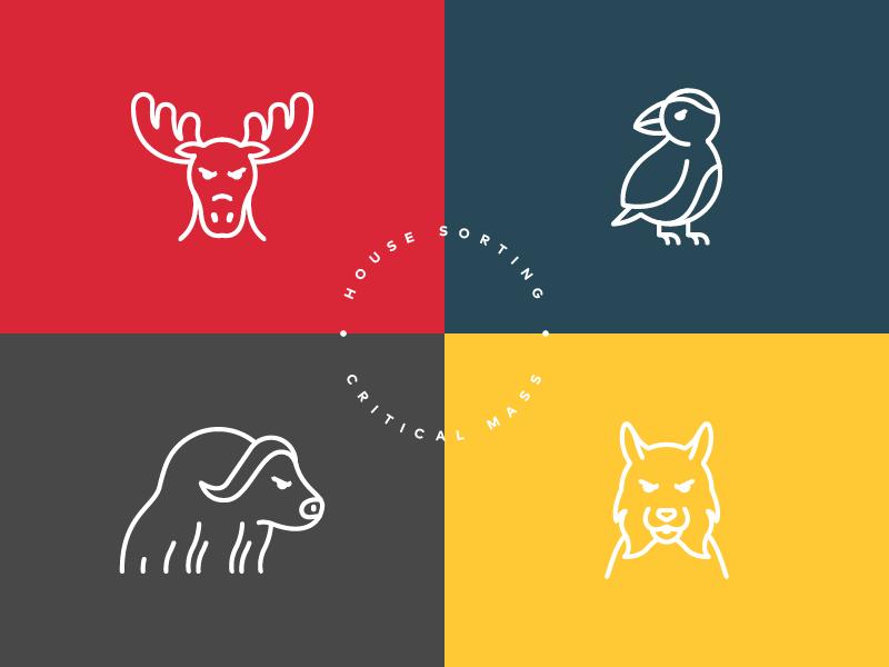 House Icons type flat lynx muskox puffin moose animal animals brand branding icon icons