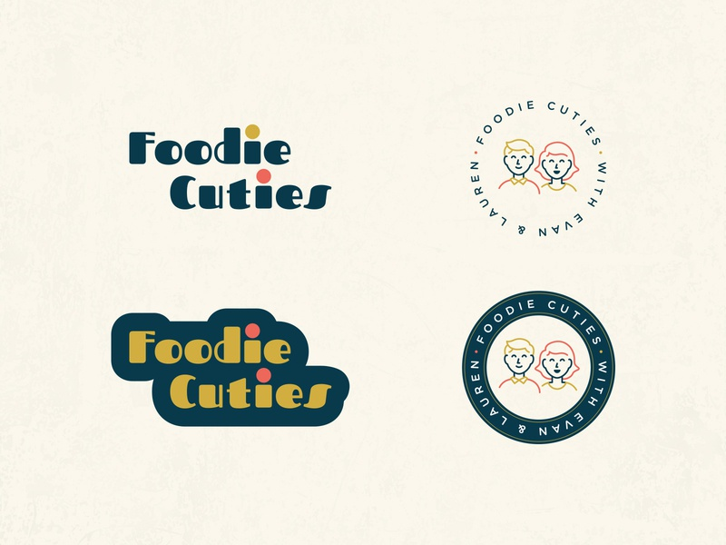 Foodie Cuties Logo Exploration 1 food foodie character illustration lettering typography type brand branding identity mark logo