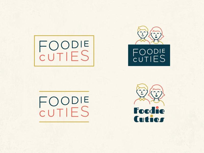 Foodie Cuties Logo Exploration 2 food foodie character illustration lettering typography type brand branding identity mark logo