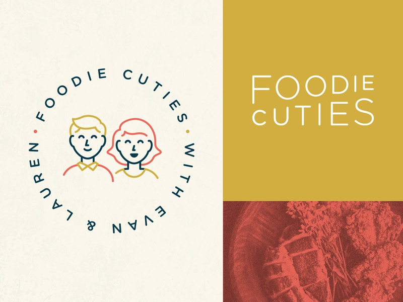 Foodie Cuties Logo and Branding food icons character illustration lettering typography type brand branding identity mark logo